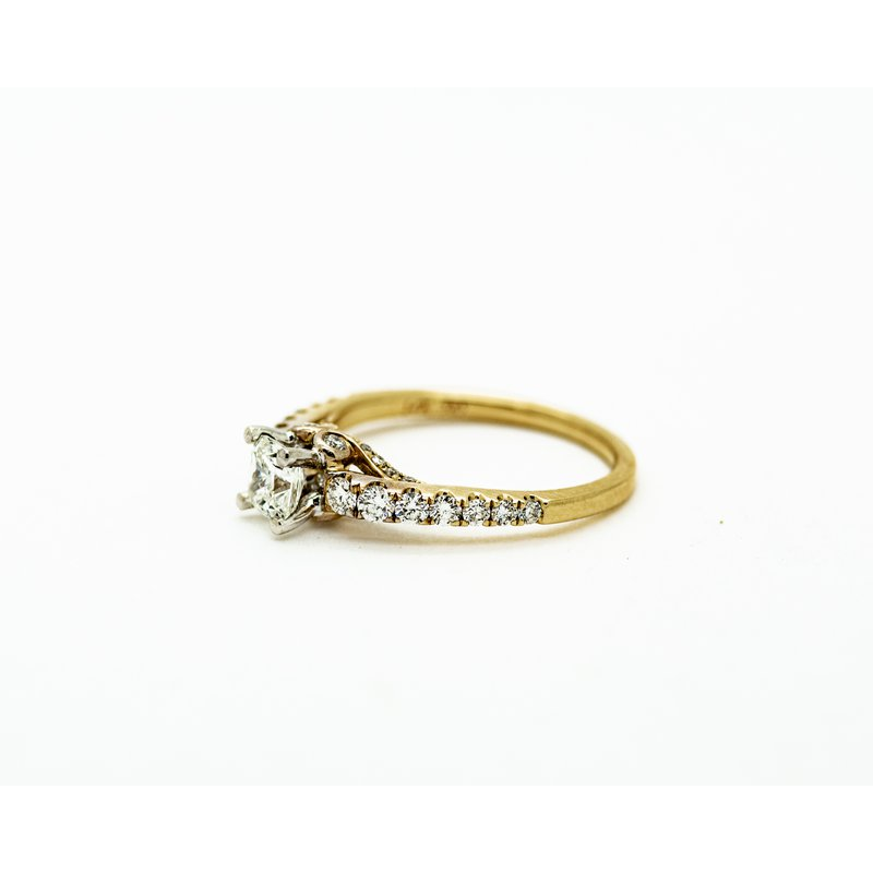 Jewelry Couture Exclusives 14k Yellow Gold Cathedral Engagement Ring