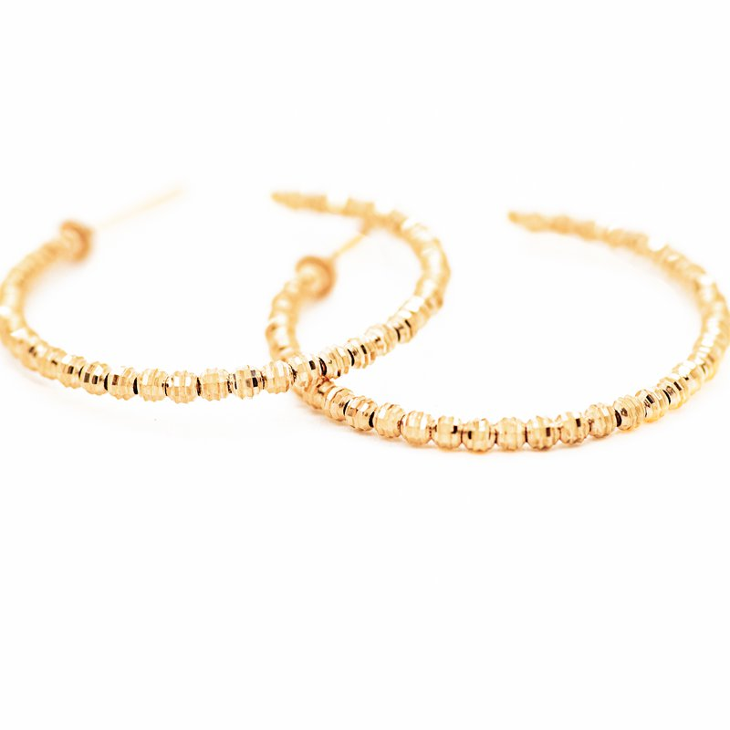Jewelry Couture Exclusives Rose Gold Diamond Cut Hoops