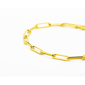 14k Yellow Gold Long Link Bracelet