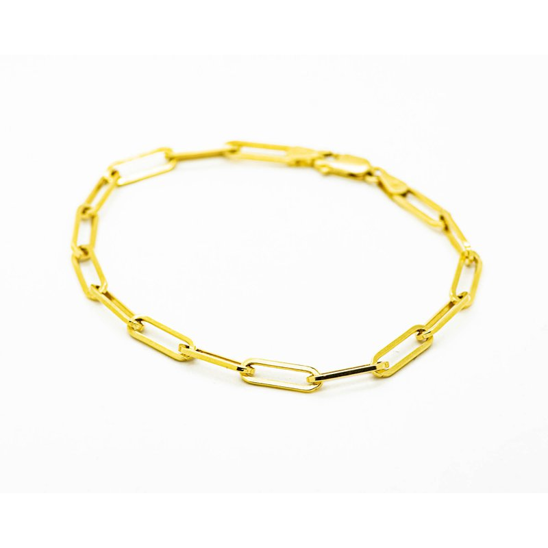 Jewelry Couture Exclusives 14k Yellow Gold Long Link Bracelet