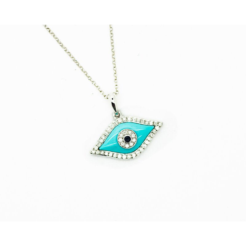 Jewelry Couture Exclusives Turquoise Evil Eye Necklace