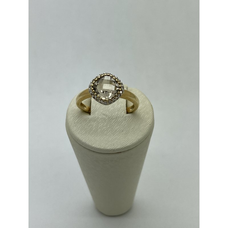 Jewelry Couture Exclusives Smoky Quartz with Halo Ring