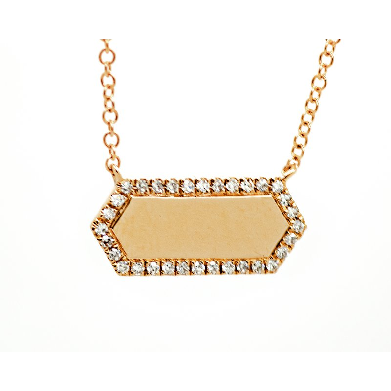 Jewelry Couture Exclusives Rose Gold Diamond Bar Necklace