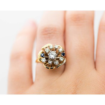 Estate Flower Ring