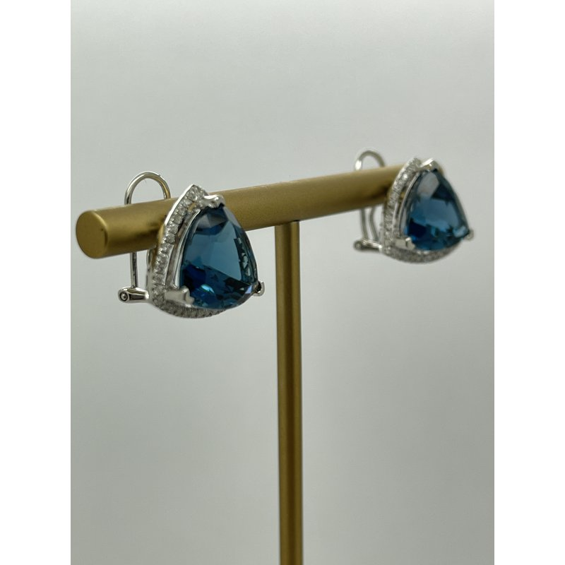 Jewelry Couture Exclusives London Blue Topaz Earrings