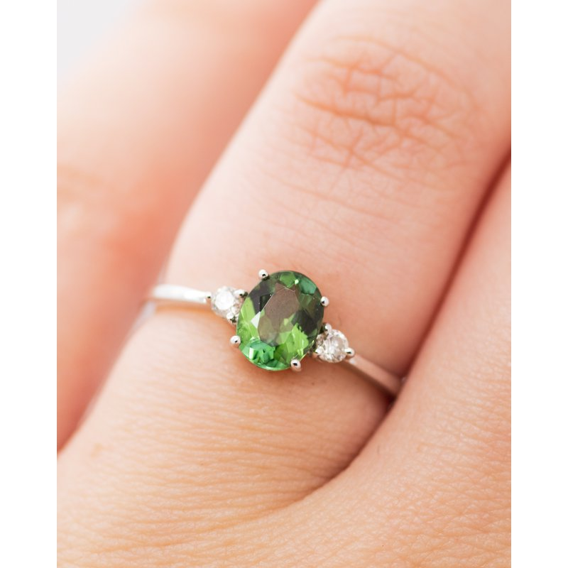 Jewelry Couture Exclusives Green Tourmaline Birthstone Ring