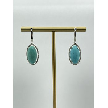 Turquoise with Halo Earrings