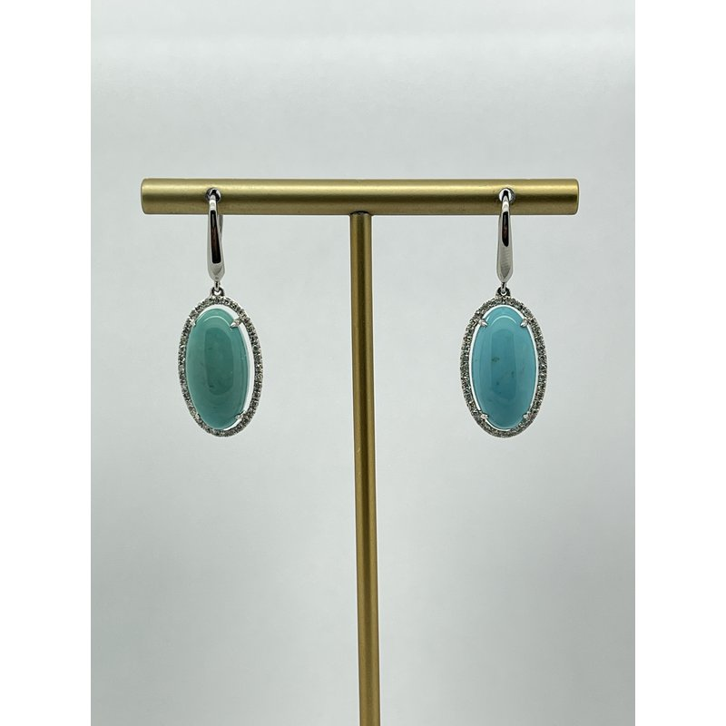 Jewelry Couture Exclusives Turquoise with Halo Earrings