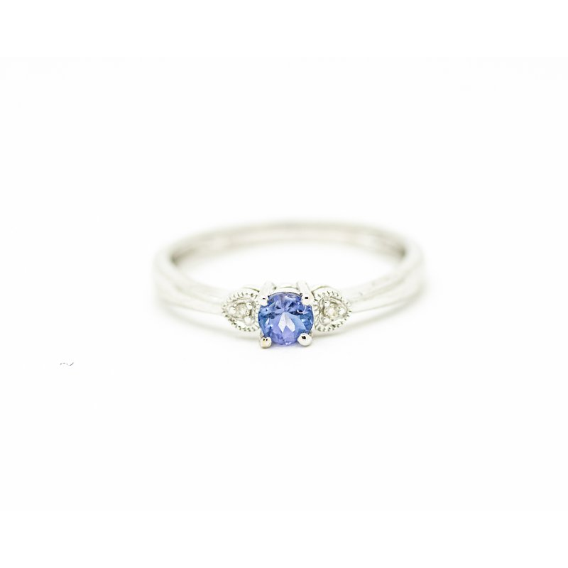 Jewelry Couture Exclusives Tanzanite and Diamond Birthstone Ring