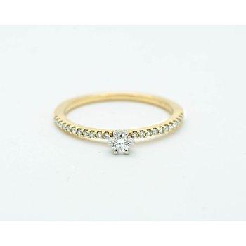 Delicate Diamond Yellow Gold Ring