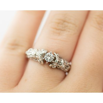 Victorian Detail Engagement Ring