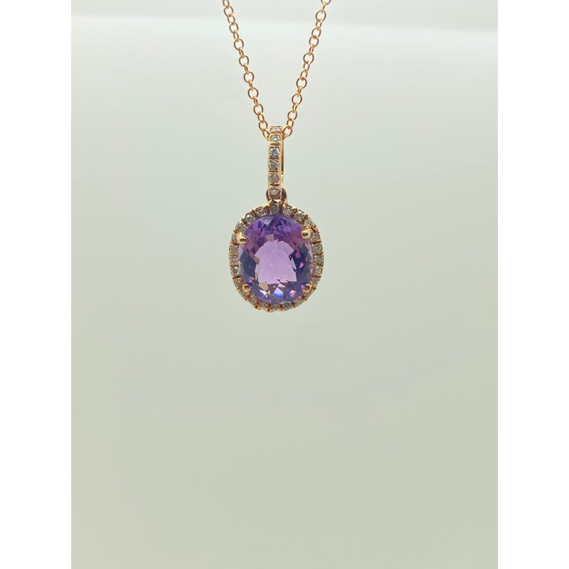Jewelry Couture Exclusives Amethyst and Diamond Pendant