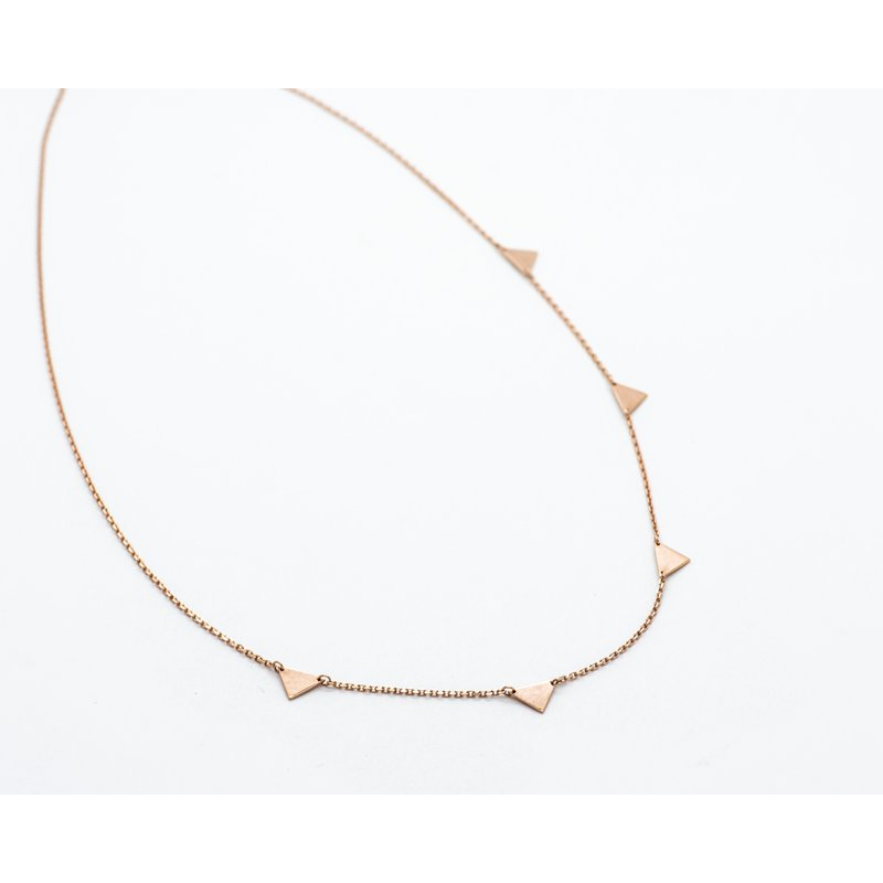 "Jewelry Couture Exclusives 14k Rose Gold Triangle 16"" Necklace"