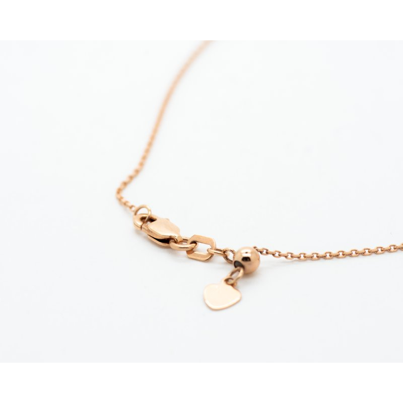 """Jewelry Couture Exclusives 14k Rose Gold Triangle 16"""" Necklace"""