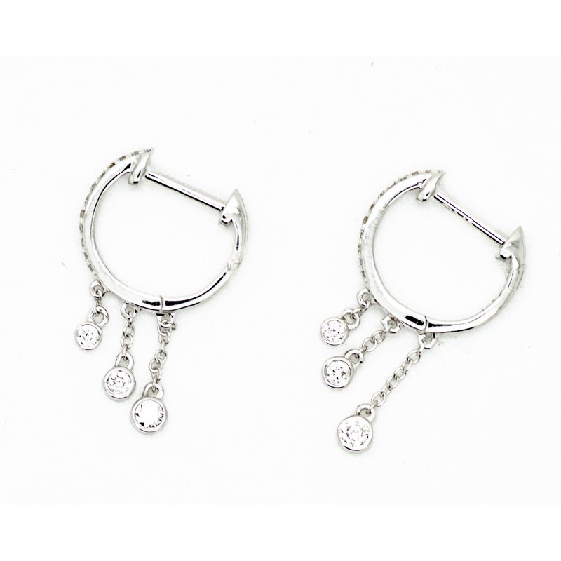 Jewelry Couture Exclusives Delicate Rain Huggie Hoops