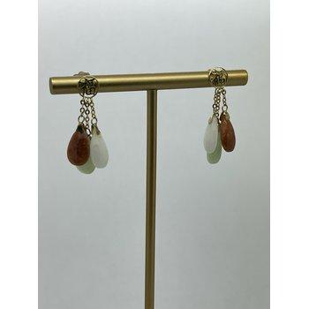 Jade Tri-Color Earrings