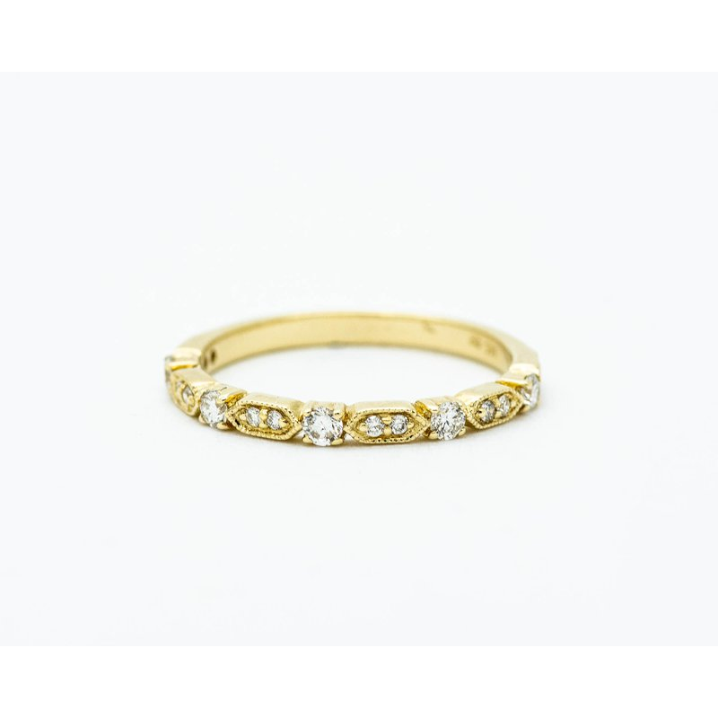 Jewelry Couture Exclusives Vintage Inspired Diamond Eternity Band