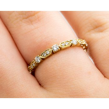 Vintage Inspired Diamond Eternity Band