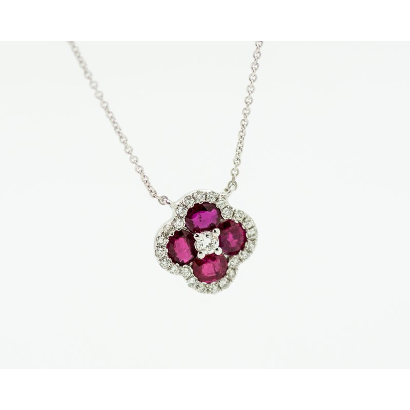 Jewelry Couture Exclusives Delicate Ruby Diamond Necklace