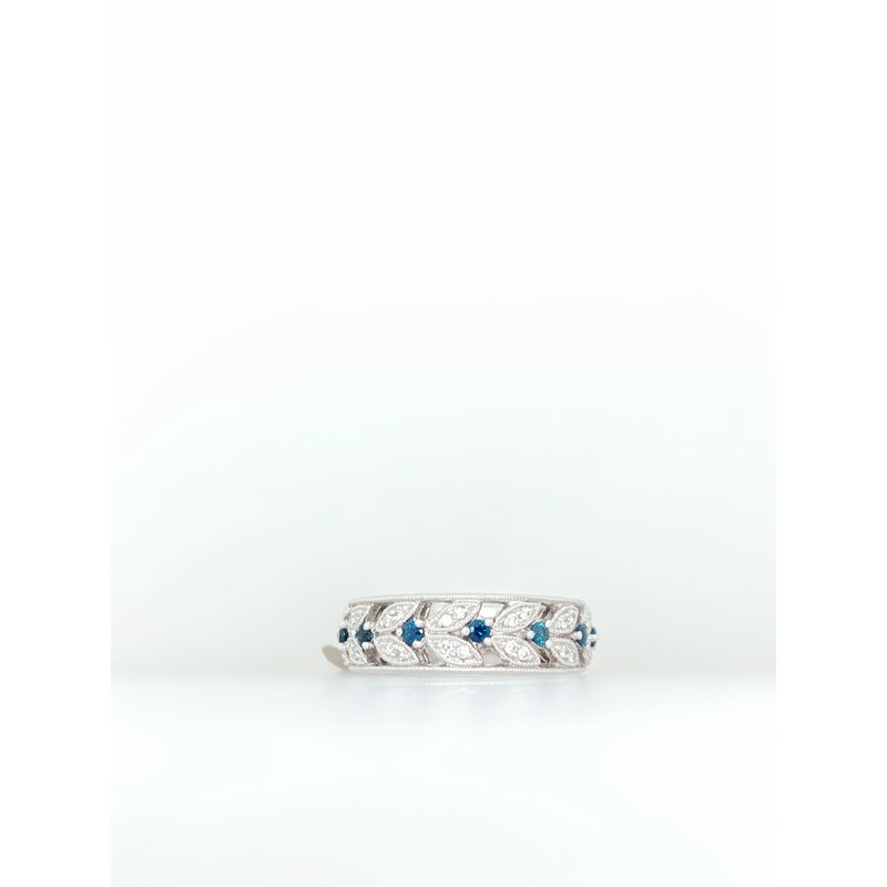 Jewelry Couture Exclusives Diamond and Sapphire 'Leafy' Ring