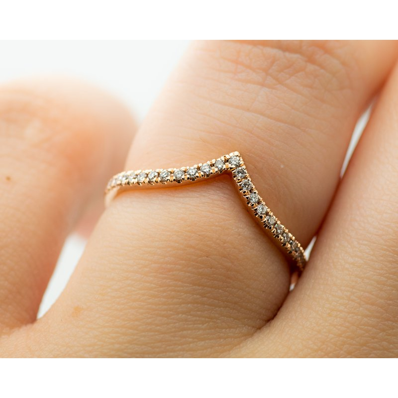 Jewelry Couture Exclusives Chevron Diamond Framing Stacking Ring