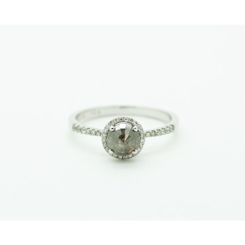 Jewelry Couture Exclusives Raw Faceted Diamond Halo Engagement Ring