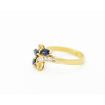 Sapphire Dragonfly Ring