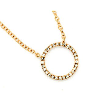 Eternity Rose Gold Diamond Necklace