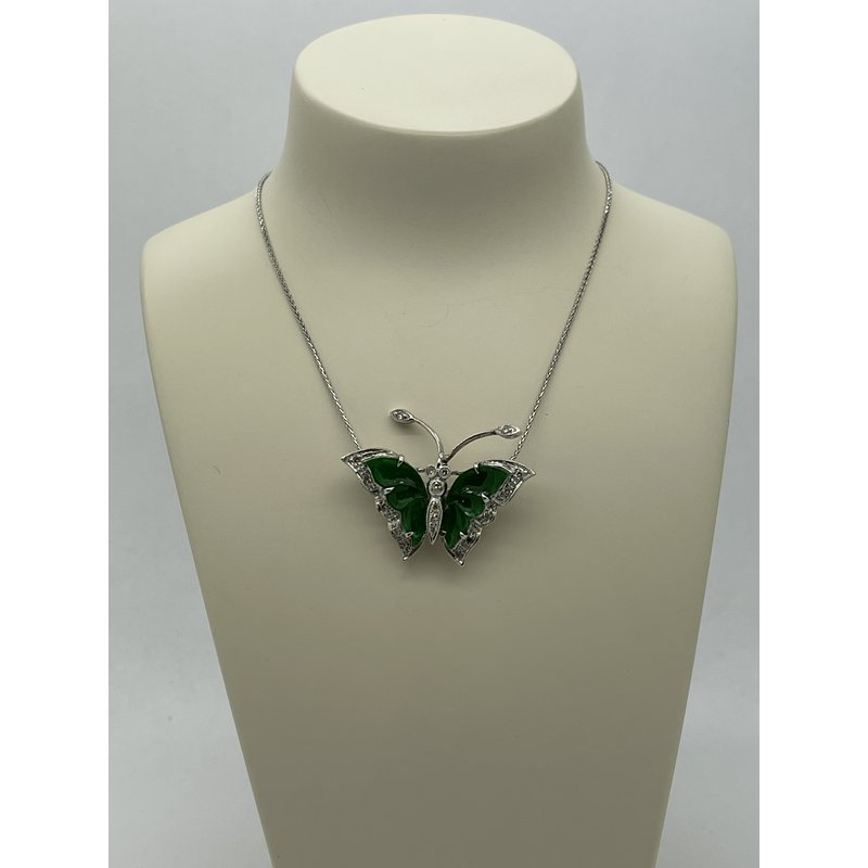 Jewelry Couture Exclusives Jade Butterfly Necklace