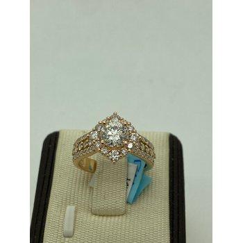 Stunning 1.11CT Rose Gold Engagement Ring