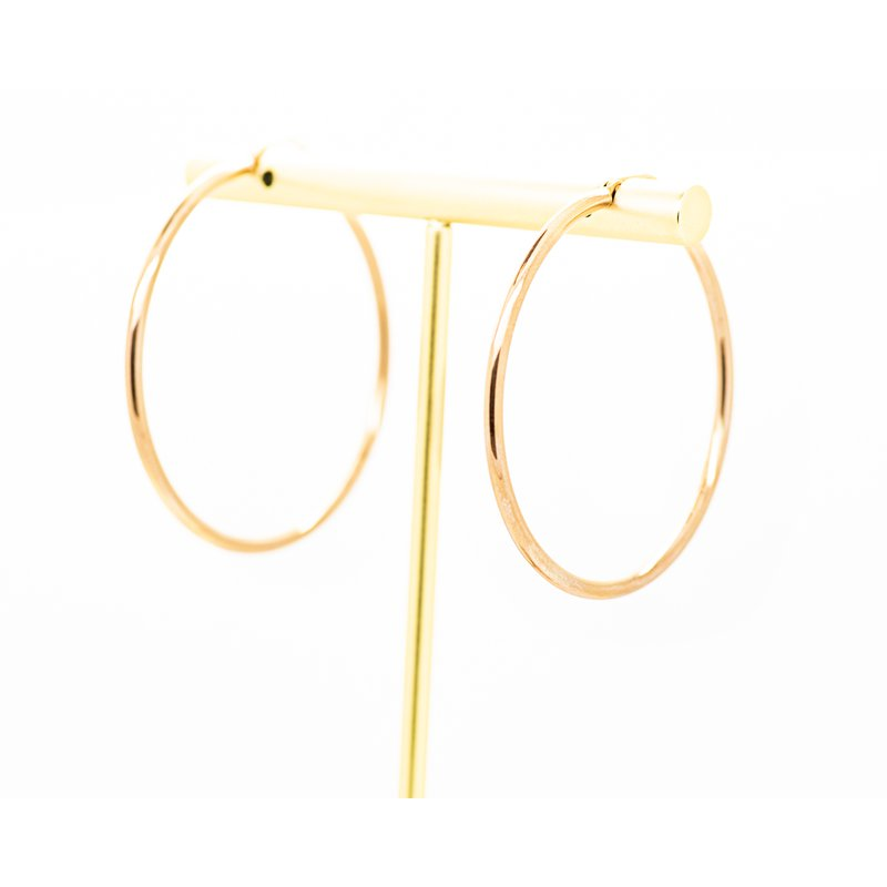 Jewelry Couture Exclusives Classic Rose Gold Hoop Earrings