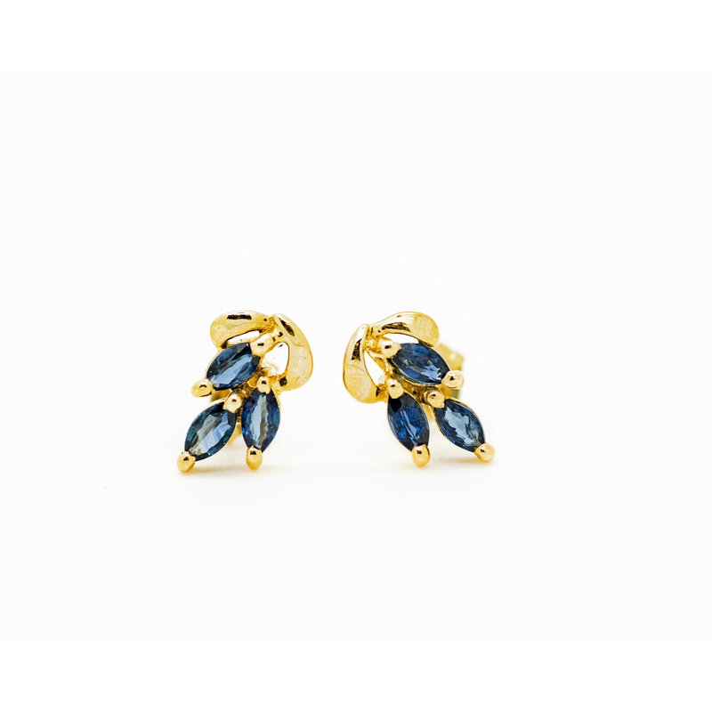 Jewelry Couture Exclusives Marquise Sapphire Cluster Studs