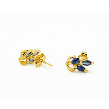 Marquise Sapphire Cluster Studs
