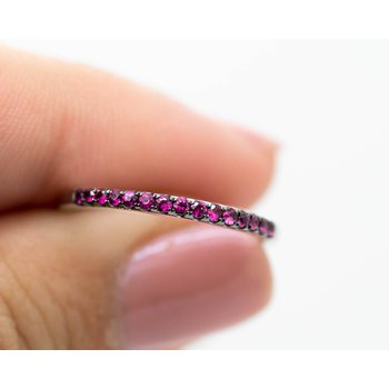 Delicate Ruby Stacking Bands