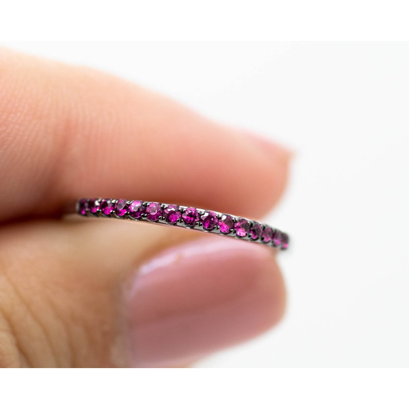 Jewelry Couture Exclusives Delicate Ruby Stacking Bands