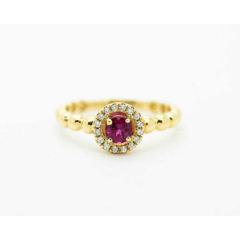Jewelry Couture Exclusives 18k Yellow Gold Ruby Promise Ring