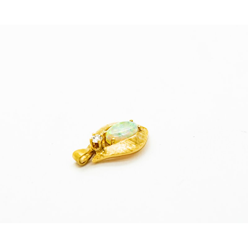 Jewelry Couture Exclusives Viola Opal Yellow Gold Pendant
