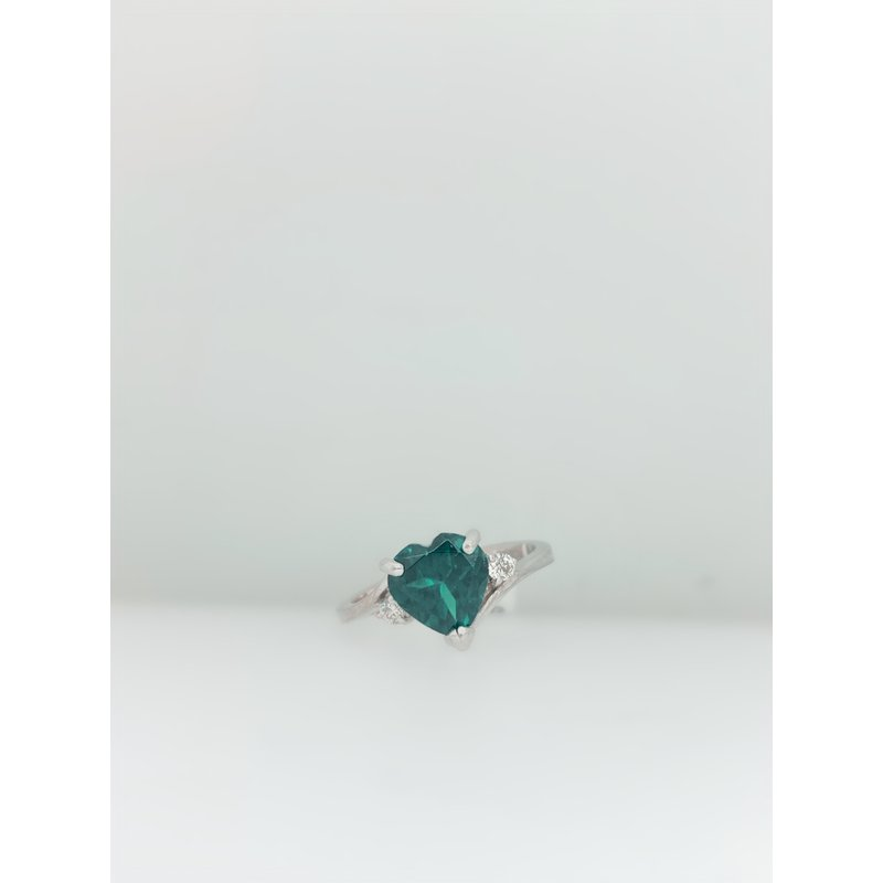 Jewelry Couture Exclusives Green Heart Tourmaline Ring