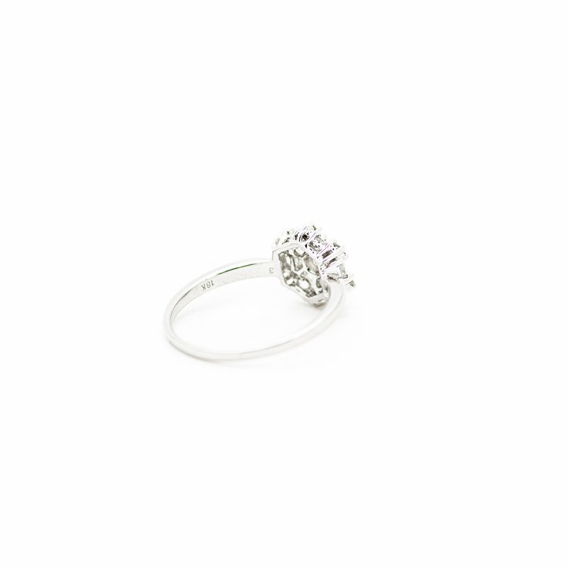 Jewelry Couture Exclusives Hexagonal Halo Diamond Engagement Ring