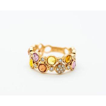 Playful Diamond and Gemstone Ring