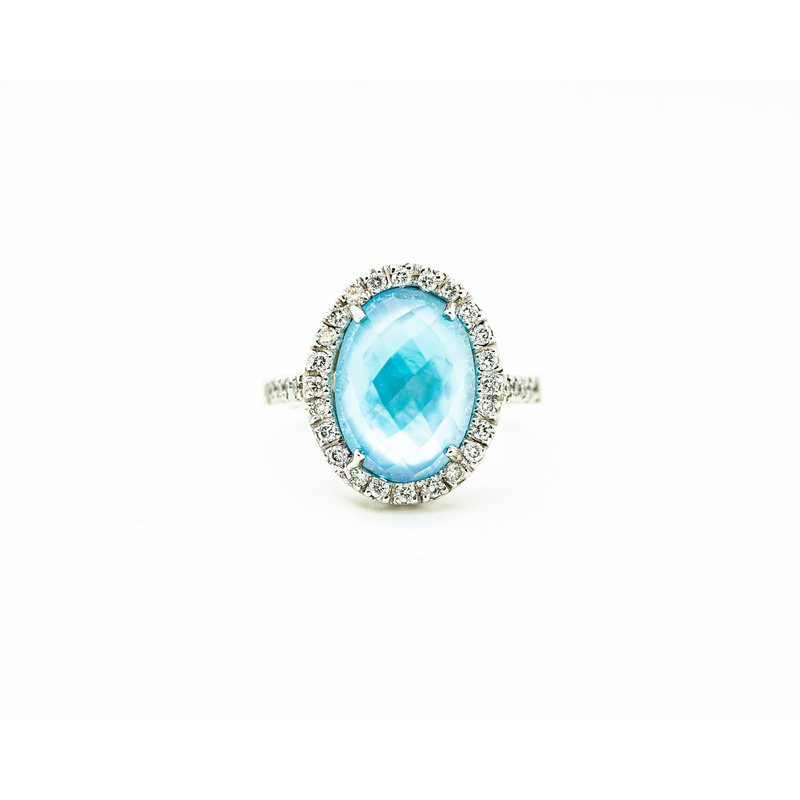 Jewelry Couture Exclusives Blue Topaz Statement Ring