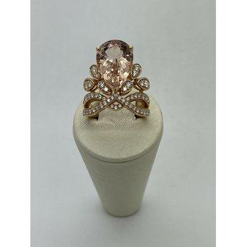 Morganite and Diamond Fashion Ring