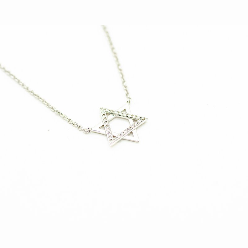Star of David Diamond Accent Necklace