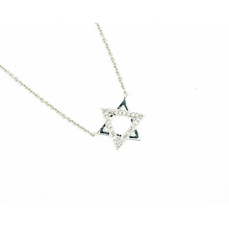 Jewelry Couture Exclusives Star of David Diamond Accent Necklace