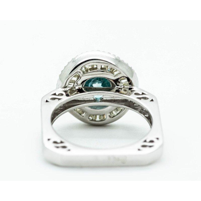 DECOÂge Teal Diamond Statement Engagement Ring