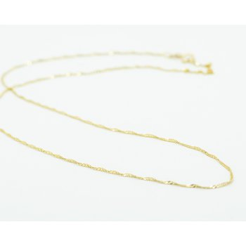 "18"" 14k Yellow Gold Petite Singapore Chain"
