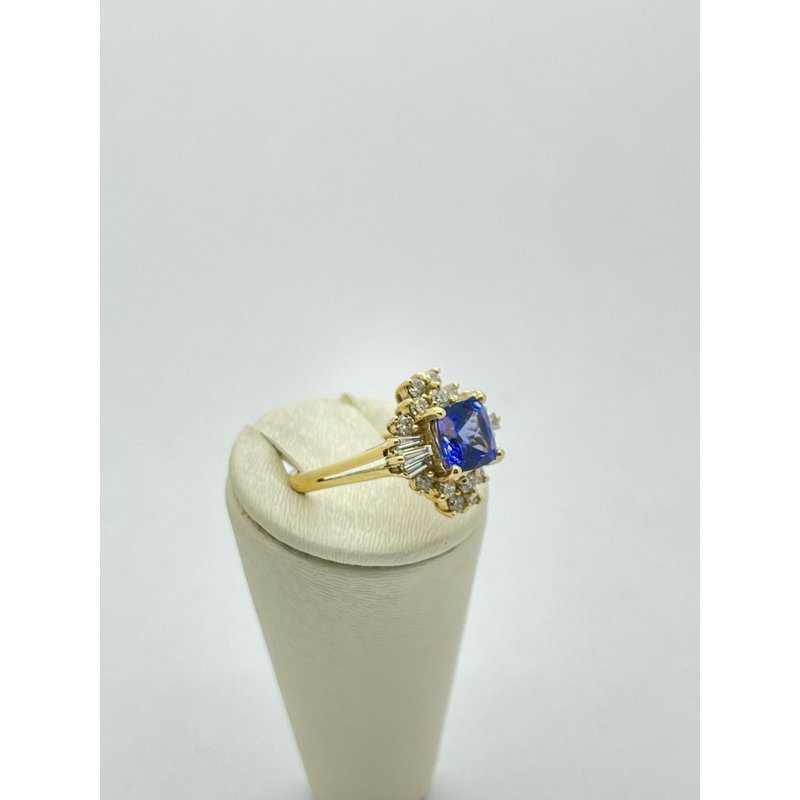 Jewelry Couture Exclusives Tanzanite and Diamond Gypsy Ring