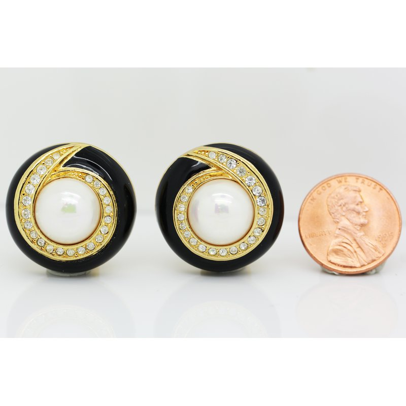 Estate Jewelry Clip On Dior Vintage Earrings