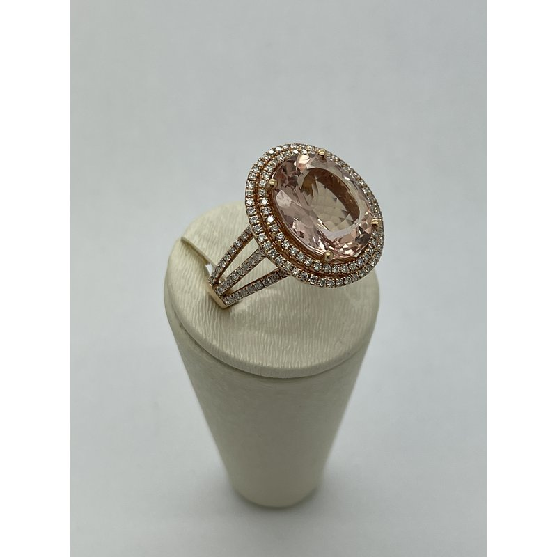 Jewelry Couture Exclusives Morganite with Double Halo Ring