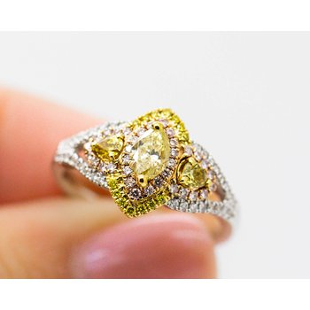 Marquise Statement Multi-Tone Ring